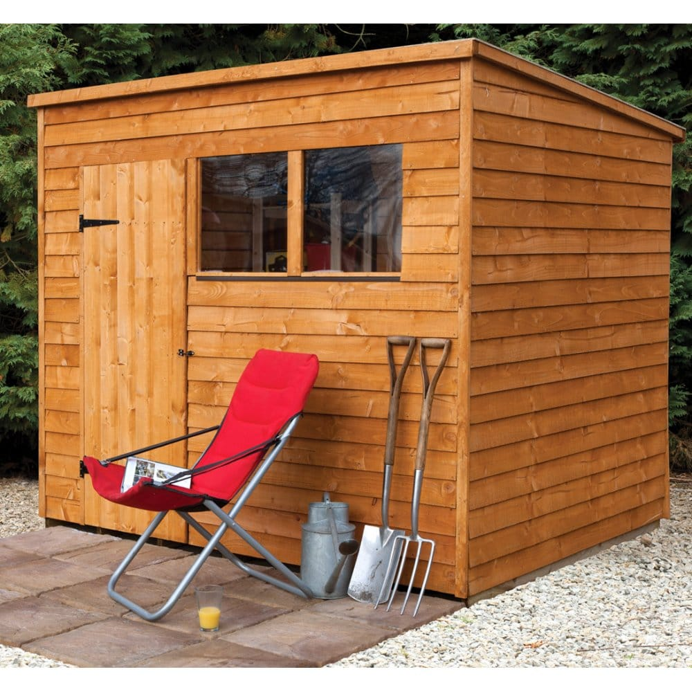 Forest garden 8x6 overlap pent shed for Garden shed 8x6