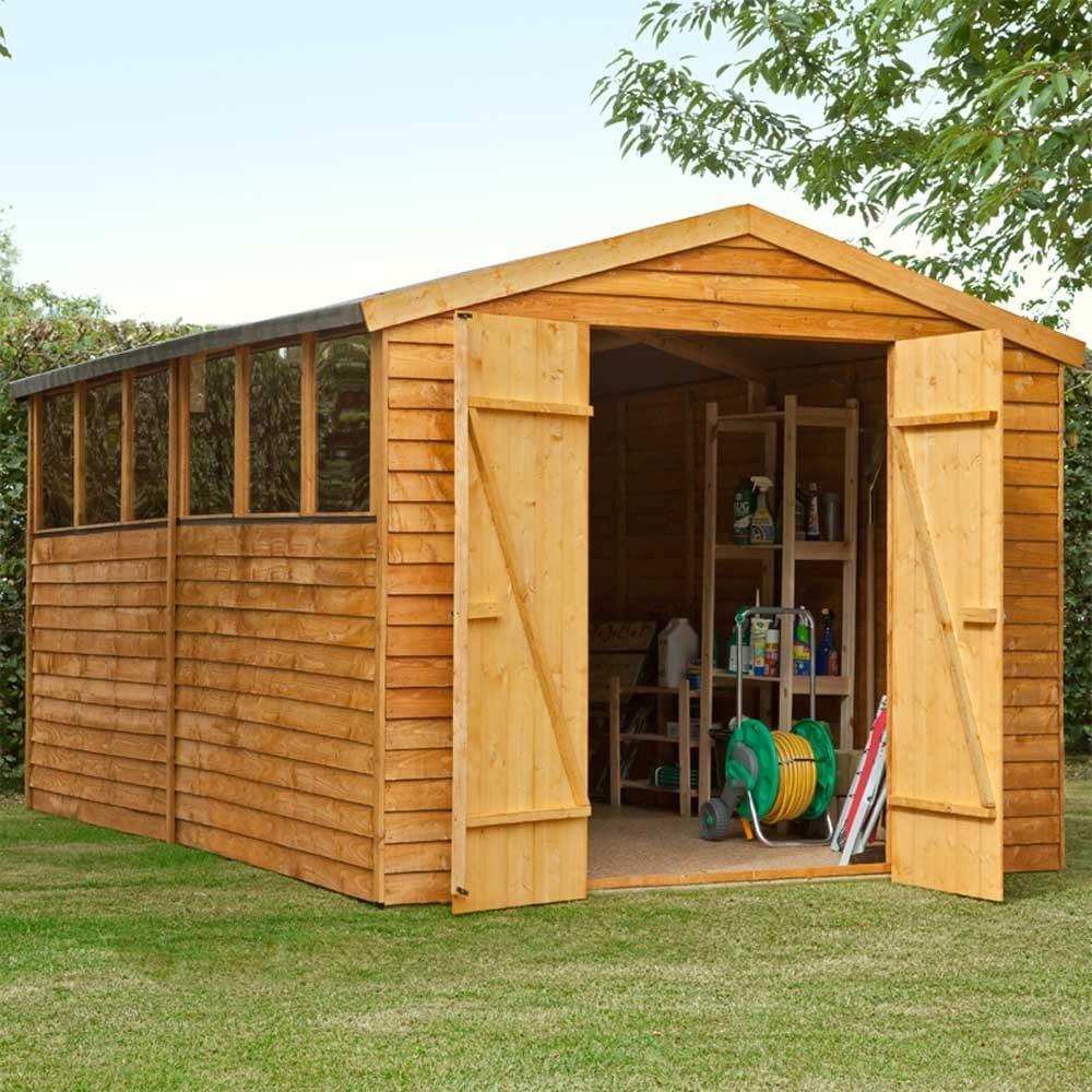 Forest garden 8ft x 10ft overlap apex shed workshop - Garden sheds x ...