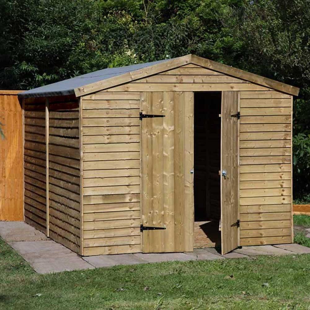 Forest garden 8ft x 10ft overlap apex security workshop - Garden sheds x ...