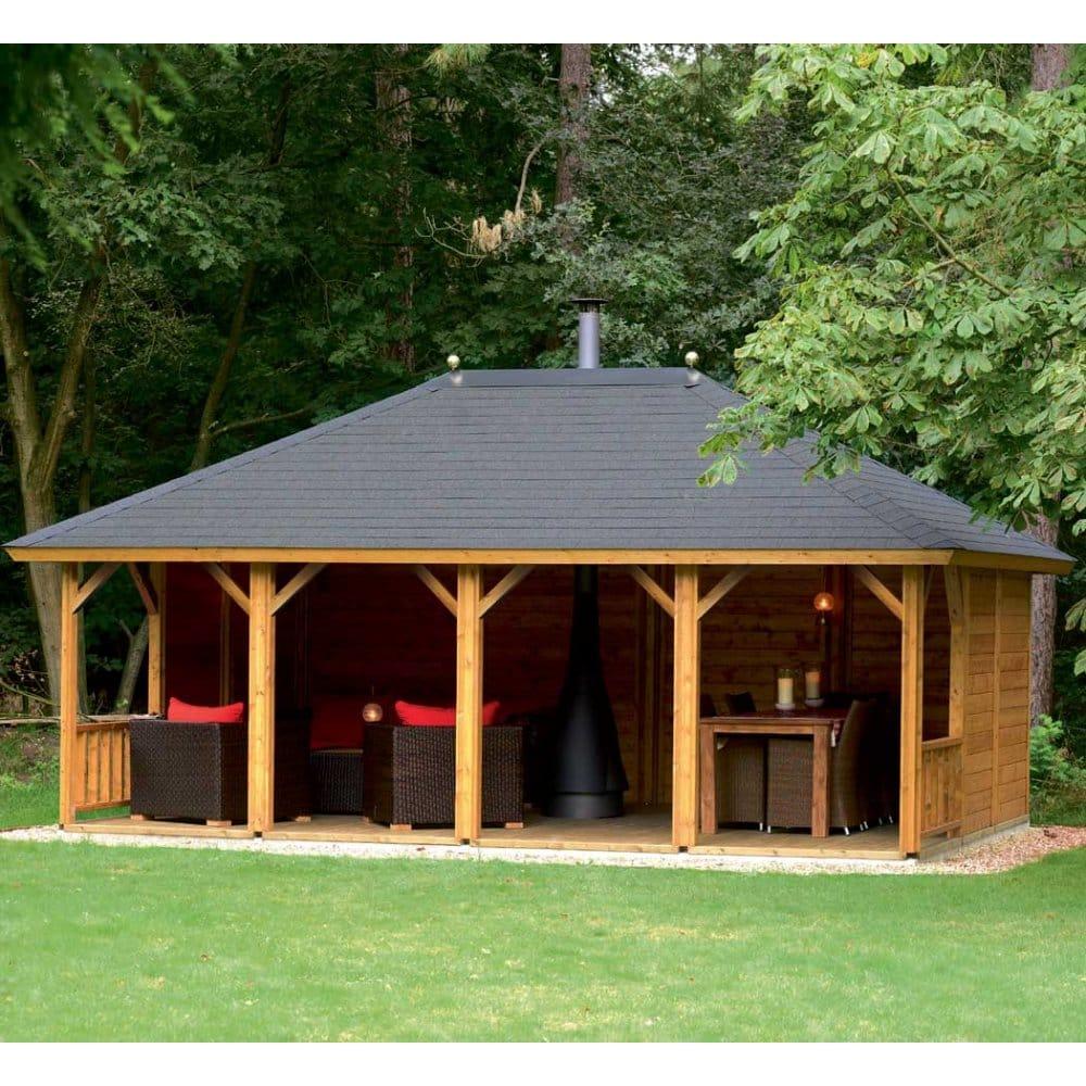Lugarde ibiza veranda footprint x - Garden summer houses with verandas ...