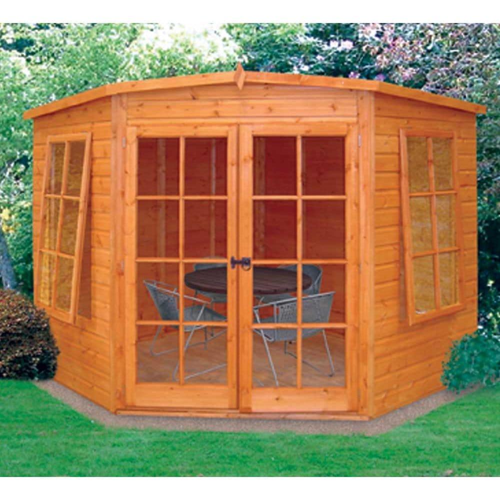 Summer Garden House: Hampton Corner Summer House, Two Sizes: 7x7 8x8. Double Doors