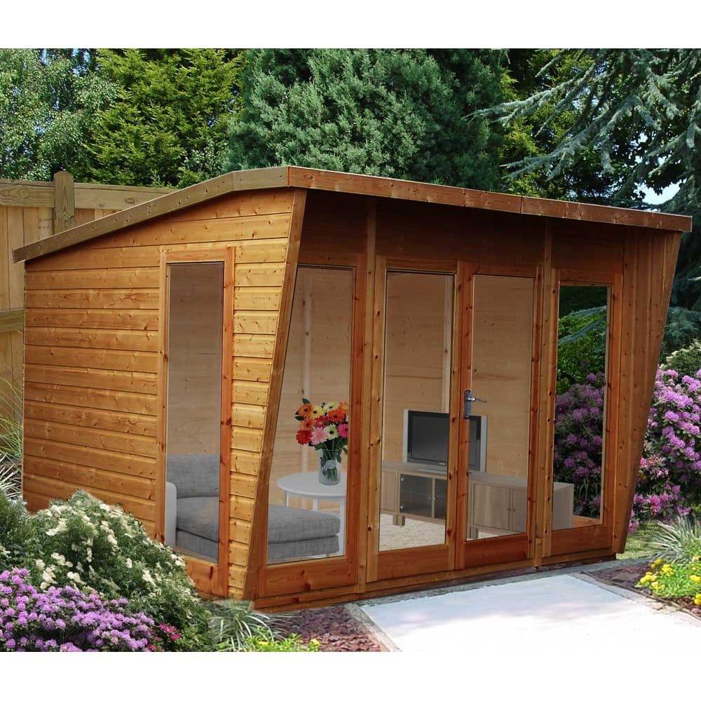 Highclere Summerhouse Off Set Ridge Double Door 4x Windows
