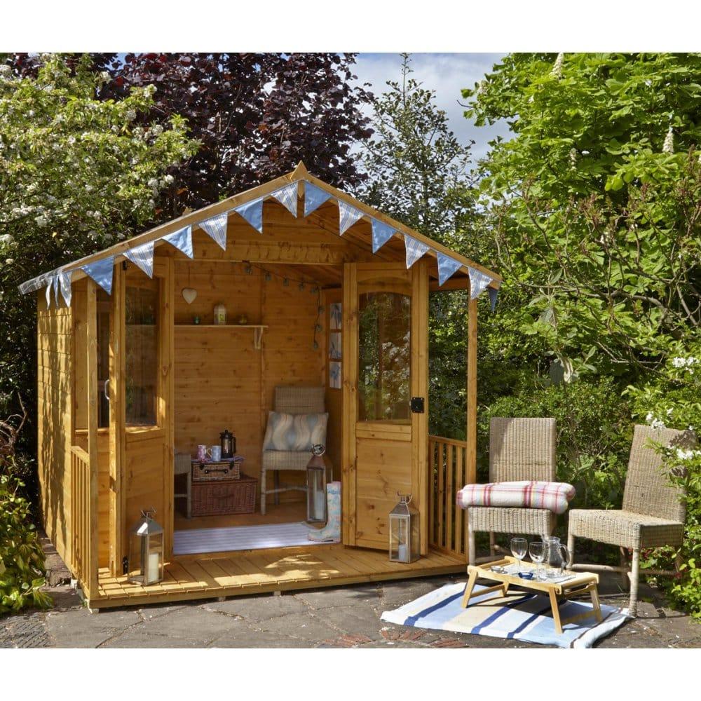 Relaxed Garden Summer House: Forest Garden Hollington 8x8 Summerhouse