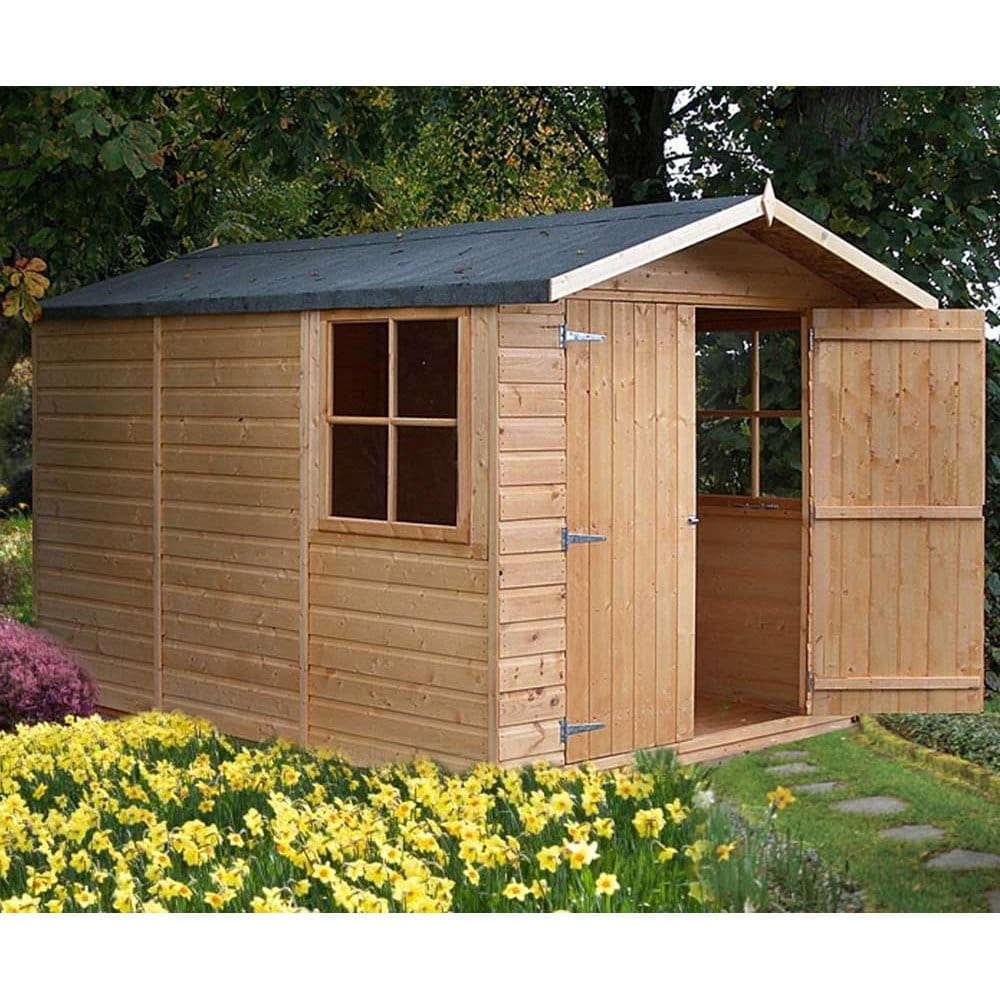 Garden Sheds Uk guernsey garden shed 7ft x 10ft double door