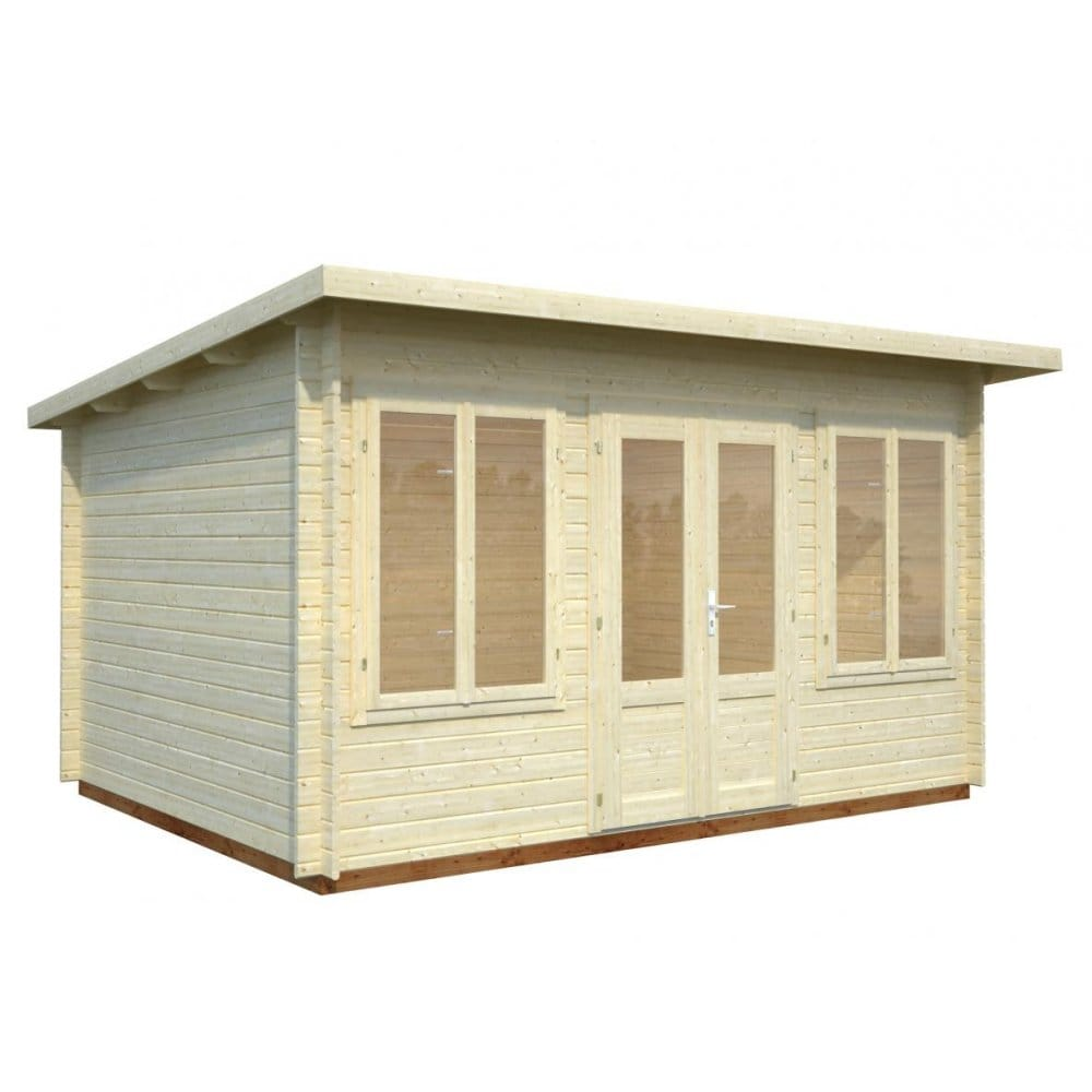 Gudrum lisa log cabin log cabin featuring low for Square log cabins